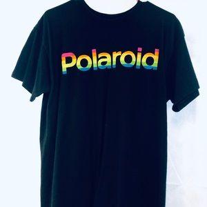 Polaroid T-shirt size men's medium. Black